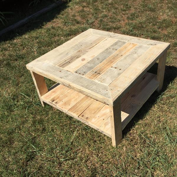 Wood Pallet Square Coffee Table