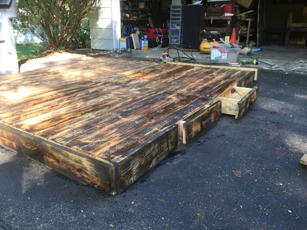 Diy Pallet Platform Bed Pallet Furniture Plans