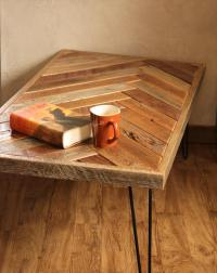 Pallet Herringbone Style Coffee Table | Pallet Furniture Plans