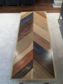 Herringbone Pattern Pallet Coffee Table Furniture
