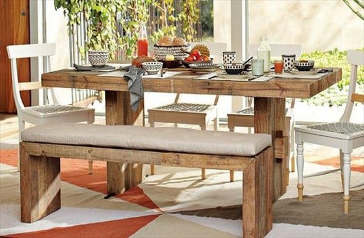Recycled Pallet Dining Tables