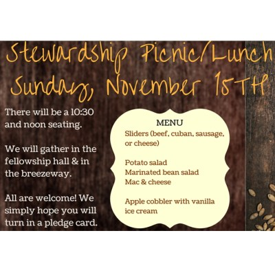 Stewardship Lunch