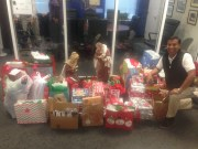 Gifts being picked up for Beth-El families