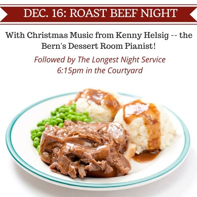 Wednesday Night Dinner Dec 16