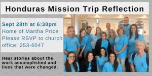 Honduras, Reflection, Mission Work