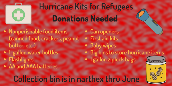 Hurricane Kits for Refugees