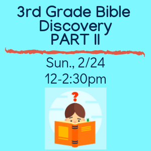 3rd Grade Bible Discovery Part 2