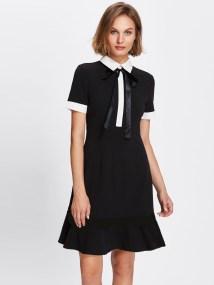 SheIn Tie Neck Dress