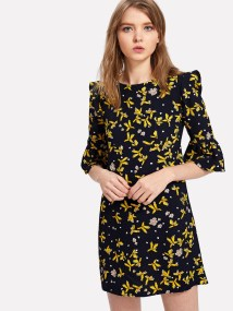 SheIn Calico Dress