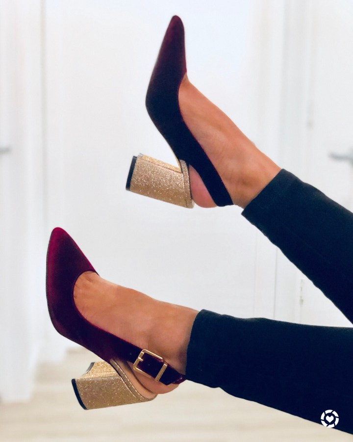 Instagram Taloo Glitter pumps