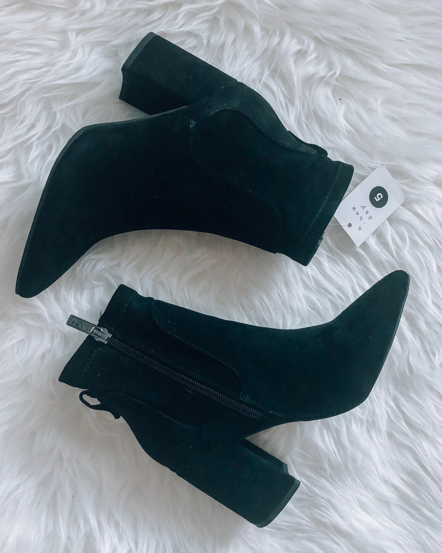 Pointed Sock Bootie in Black