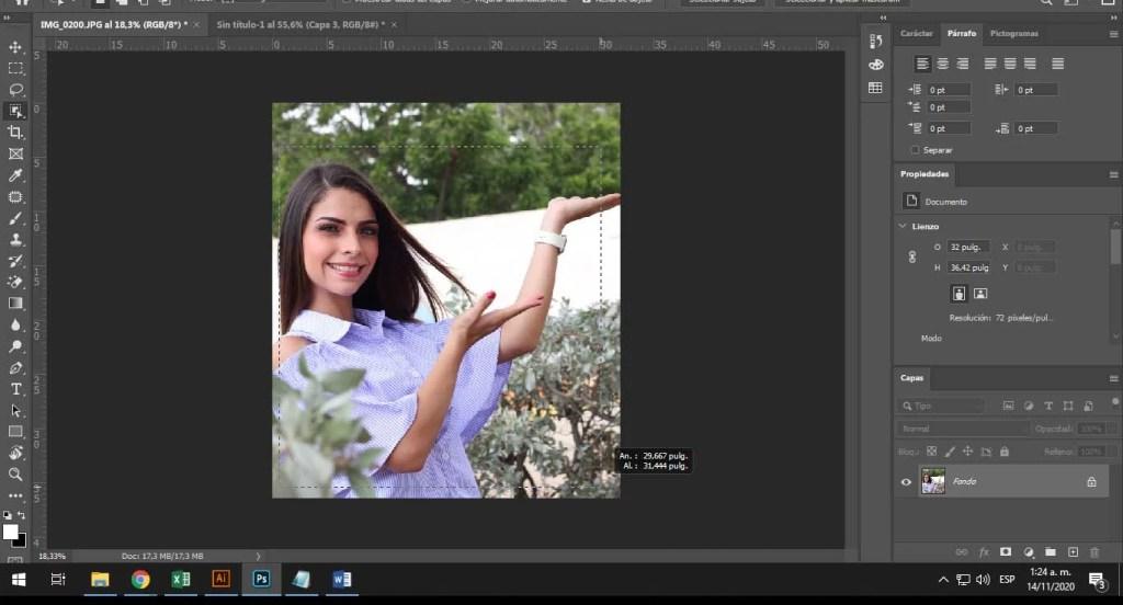 seleccionando el objeto en Photoshop