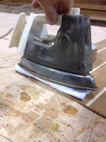 Acelerando secado con plancha