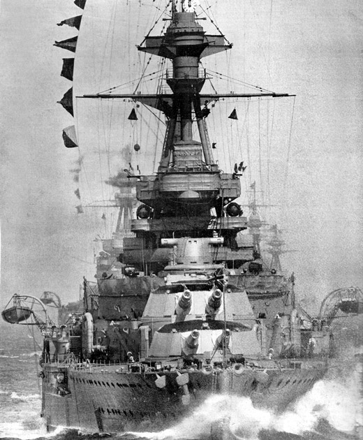HMS_Royal_Oak_on_manoeuvres,_1928