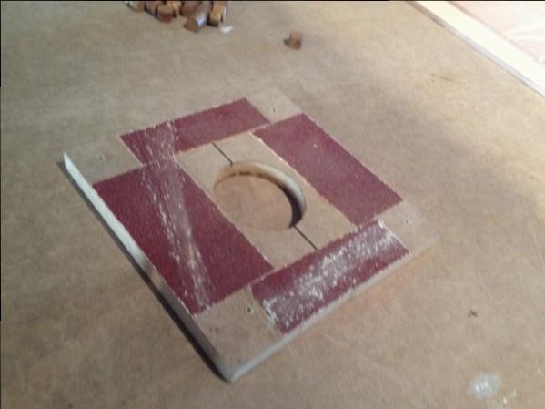 como cambiar una cubierta tablero para plantilla con lija