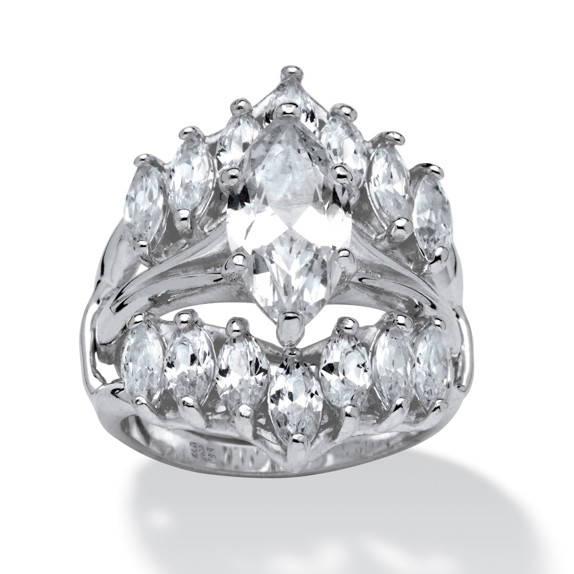 598 TCW Marquise Cut Cubic Zirconia Sterling Silver