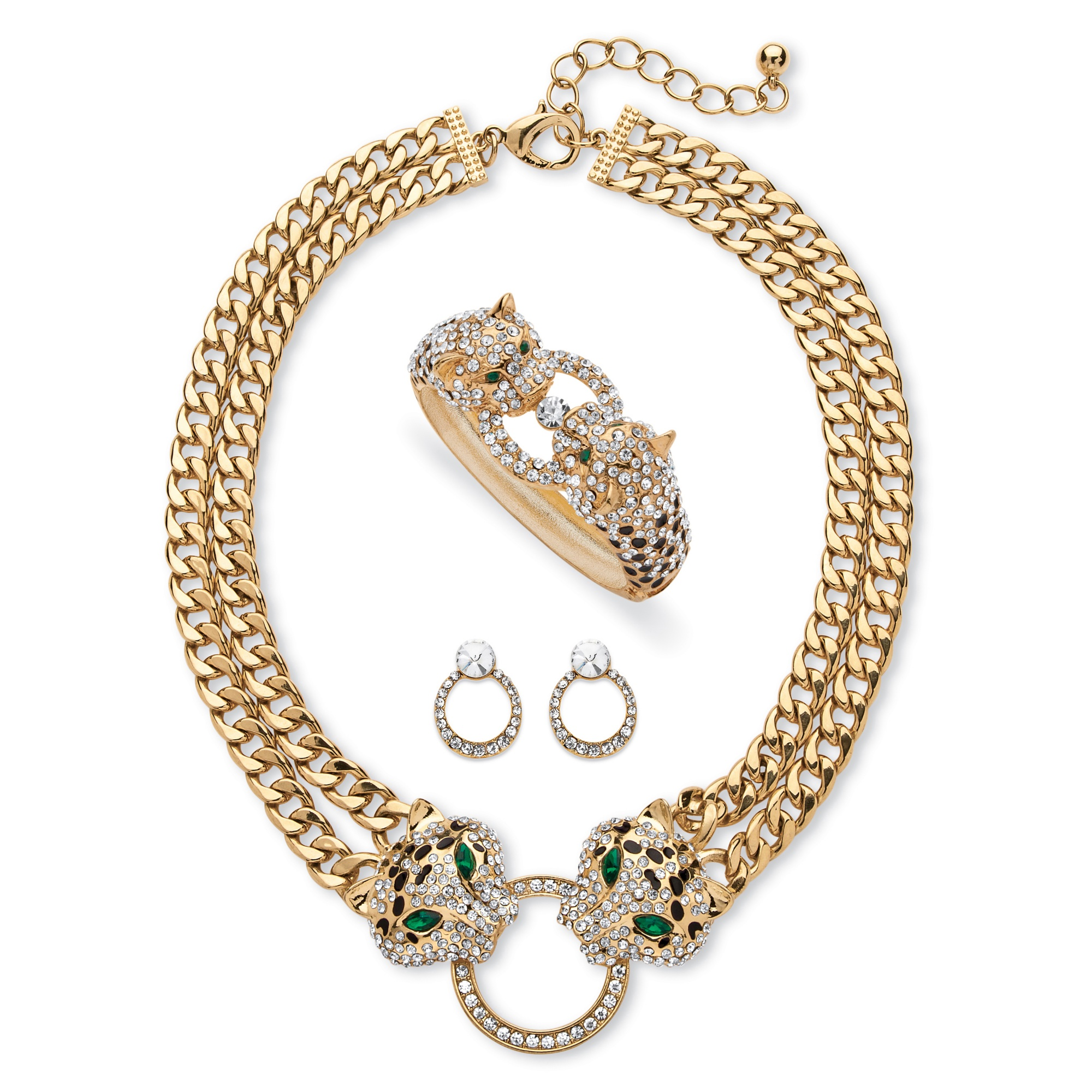 Pave Crystal and Simulated Emerald 3