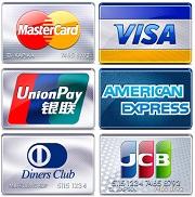 Payment cards unionpay amex visa