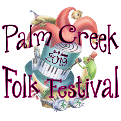 PALM CREEK FOLK FESTIVAL // 6~9 June 2019 Logo