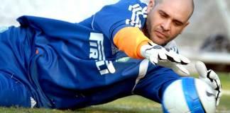 Marcos em treino no Palmeiras.
