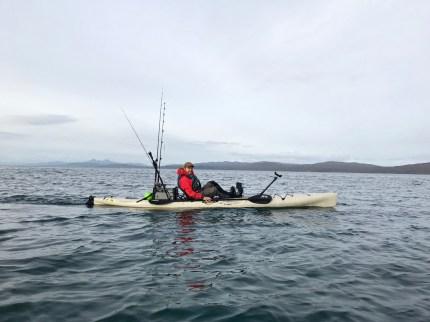 Ben kayaking in the Sound of Jura