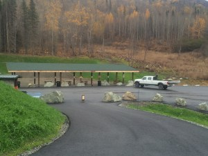 The 25yd handgun range
