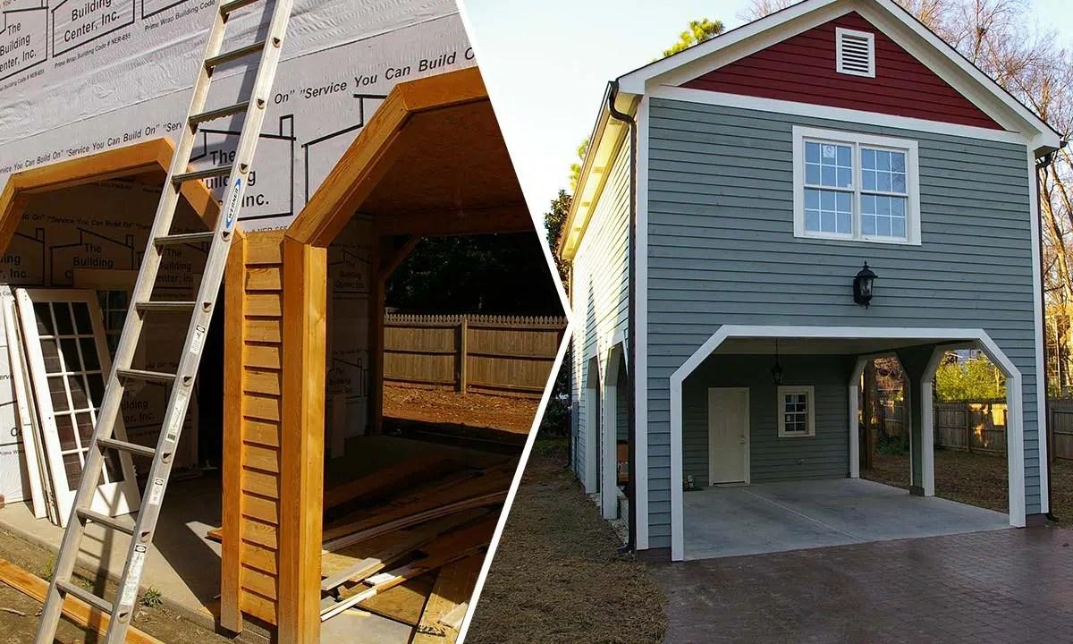 Detached Carport With Bonus Room Addition  Home