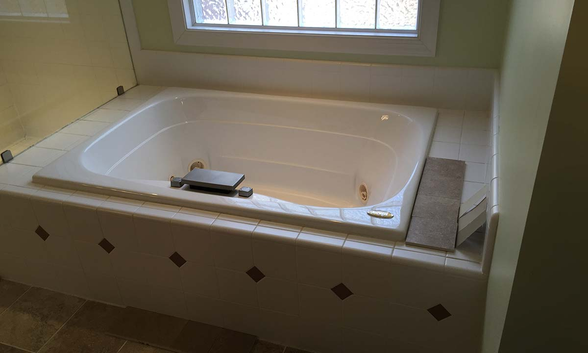 Freestanding tub master bathroom renovation  Charlotte