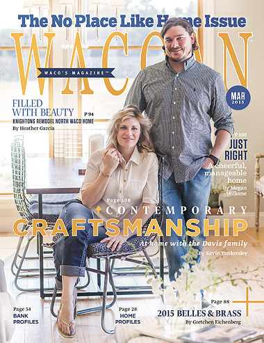 Palmer Davis Design featured in March 2015 Wacoan