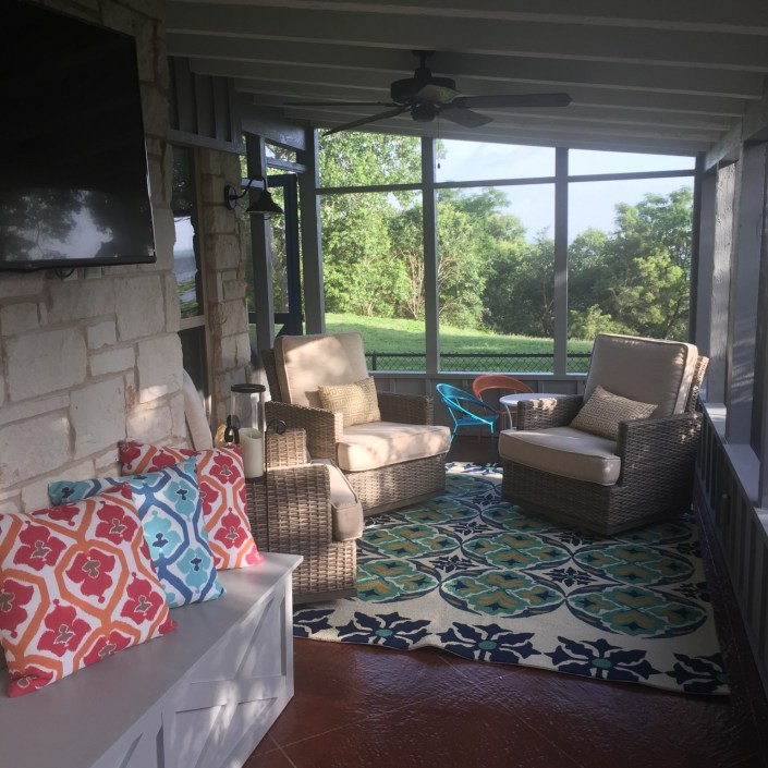Eclectic covered patio inspiration