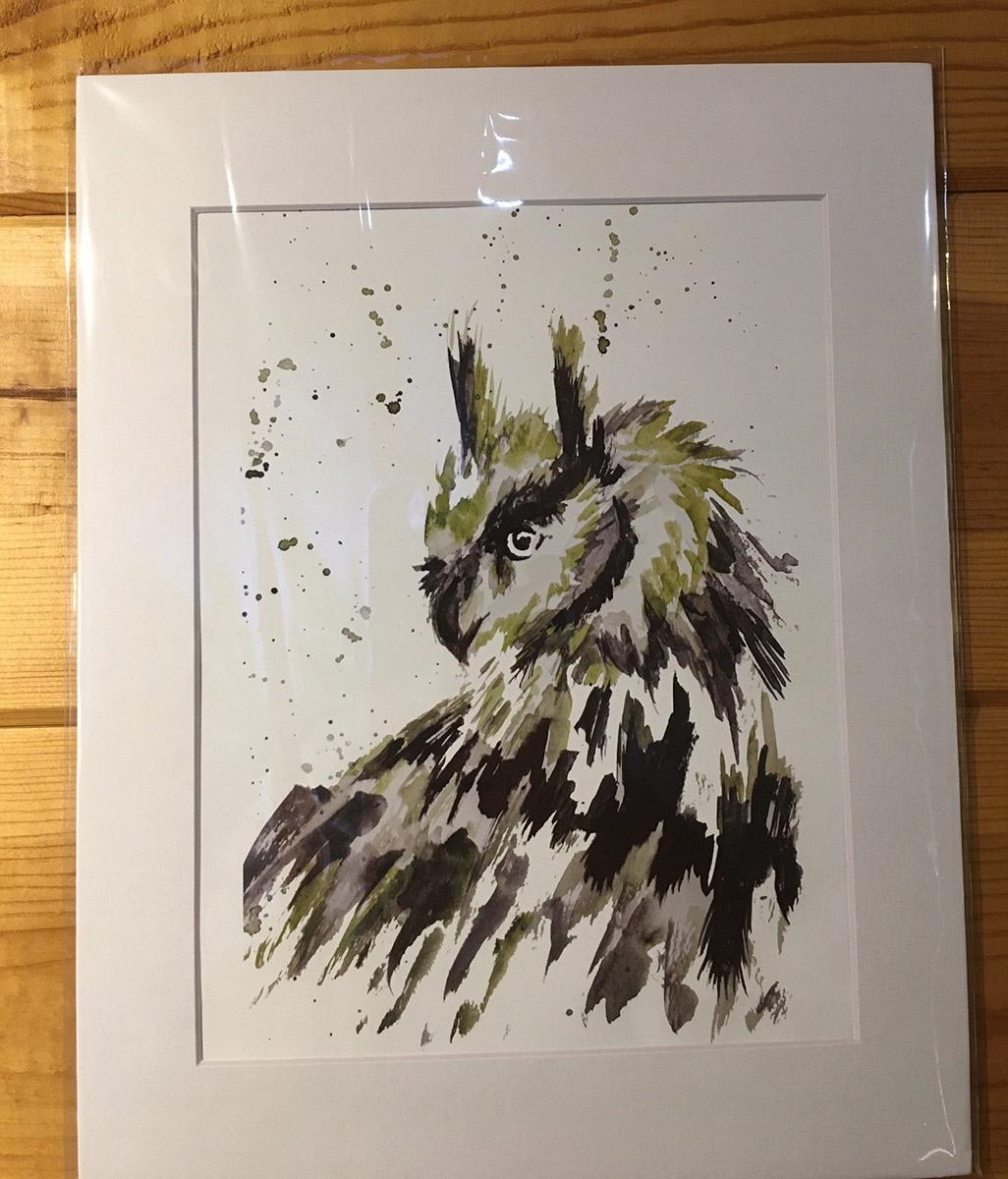 Danielle Mettling Artist of the Week owl print
