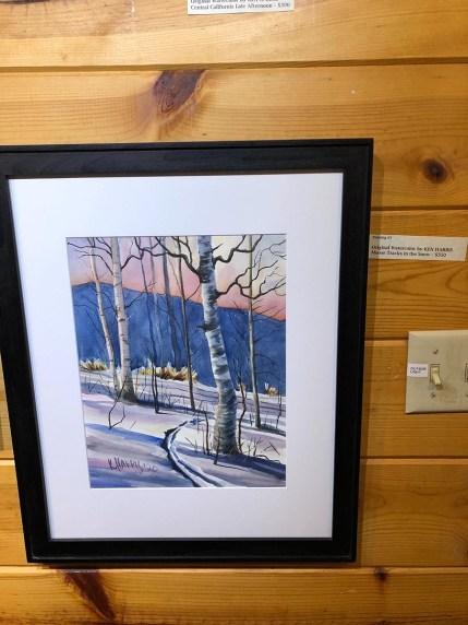 Ken Harris Artist of the Week Moose Tracks in the Snow