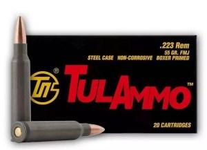Tula .223 REM 55GR FMJ Non-Corrosive 20 Round Box