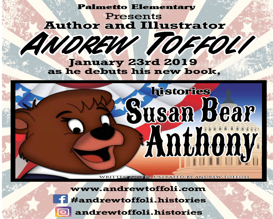 Author and Illustrator Andrew Toffoli Presentation Flyer