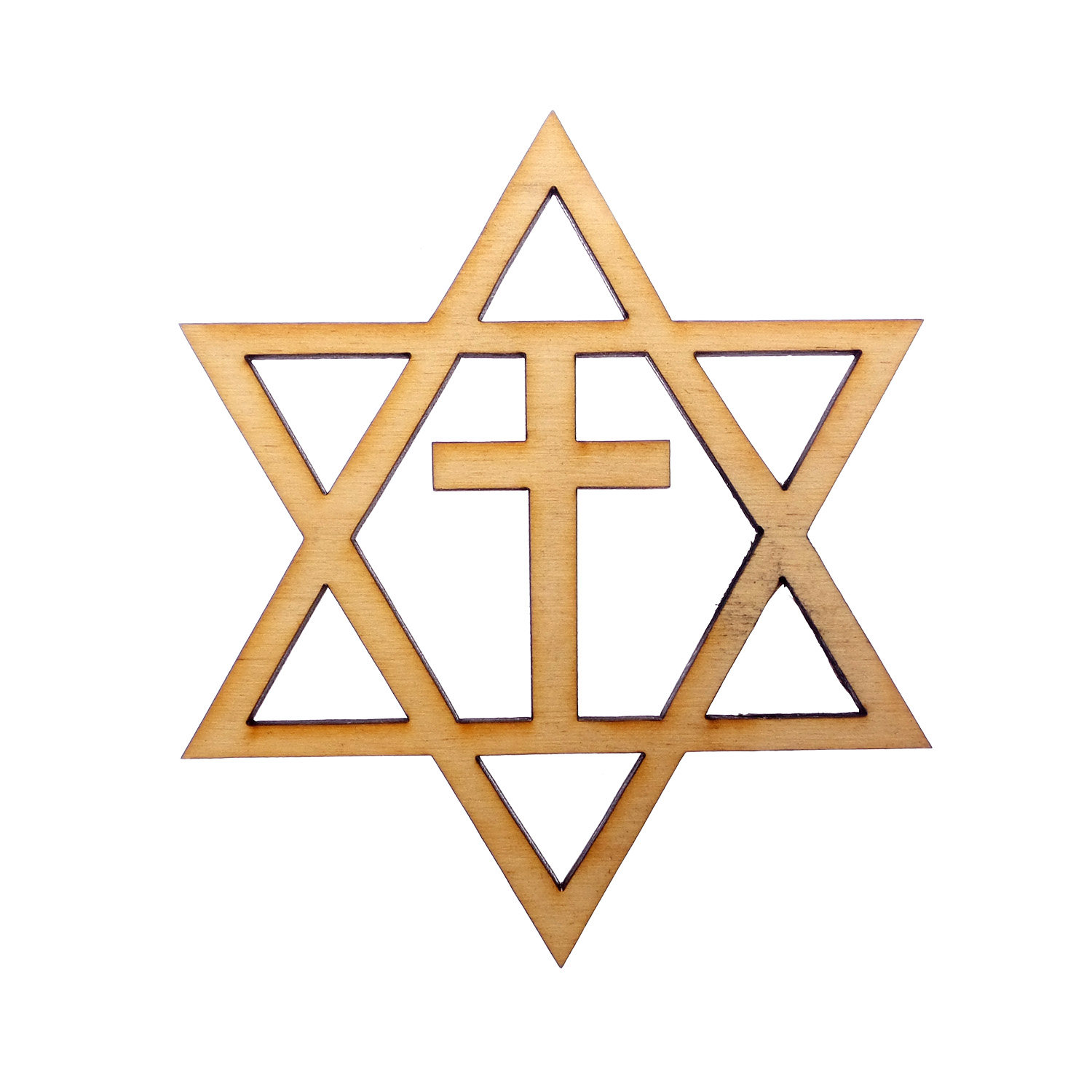 Star Of David Ornament With Cross
