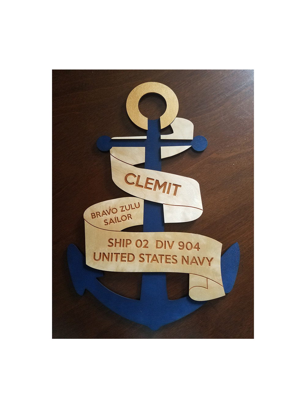 Custom Navy PIR Door Decoration