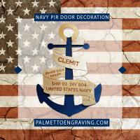 Custom Navy PIR Door Decoration - Anchor Door Decoration