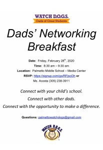Dads' Networking Breakfast @ Media Center