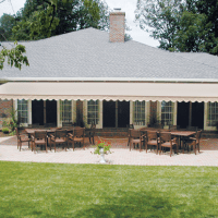 Largest Retractable Awning Patio Covers offered for Greenville, SC. Aristocrat Awnings have up to 16.5' projections and 41' widths.