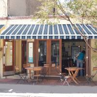 Blue cafe Awning