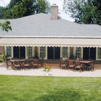 Aristocrat Awnings offers the largest width Retractable Awnings on the market at 40' wide. Awnings are great for shading a backyard or outdoor eating area at a restaurant. Cover your Greenville SC outdoor dining area with an awning.