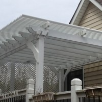 We installed the American Louvered roof Patio Cover on this Easley, SC homeowner's existing outdoor Shade Structure. He now has sun and rain protection while enjoying a dip in the hot tub.