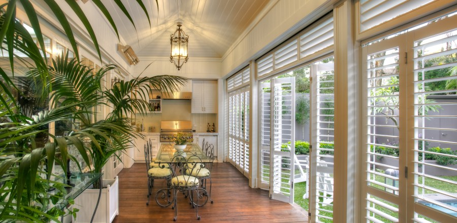 Enclose your porch to block wind, rain, and cold with Weatherwell Multi-fold shutters.