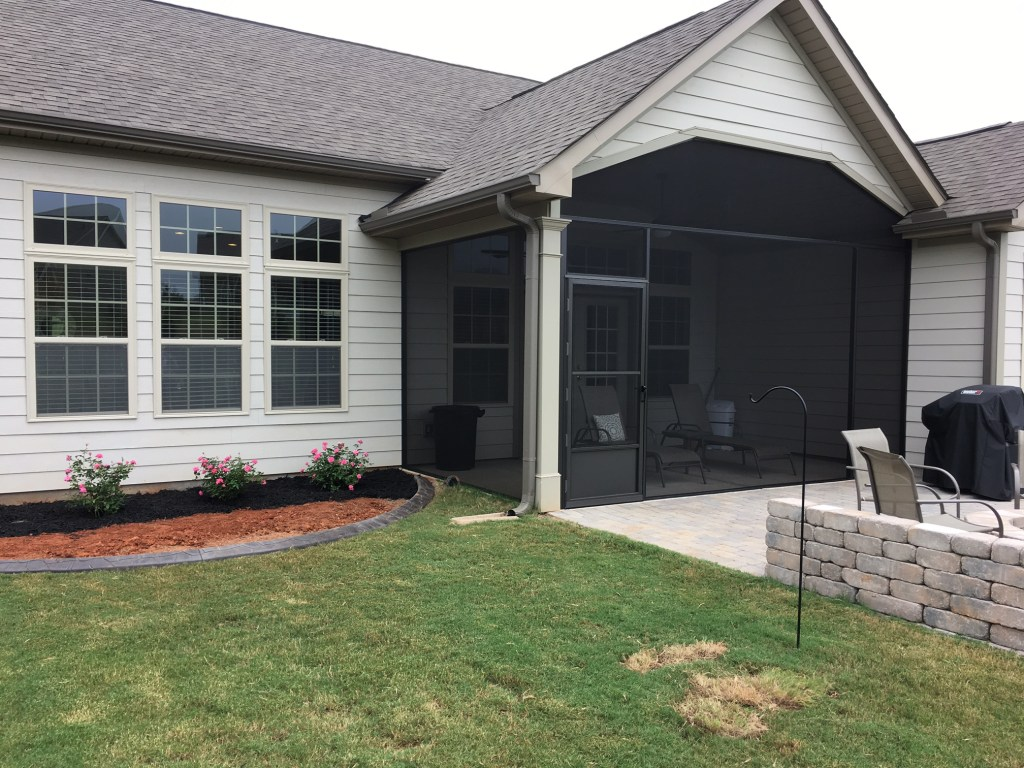 Custom Screened Porch for DR Horton Coastal Home plan in Simpsonville