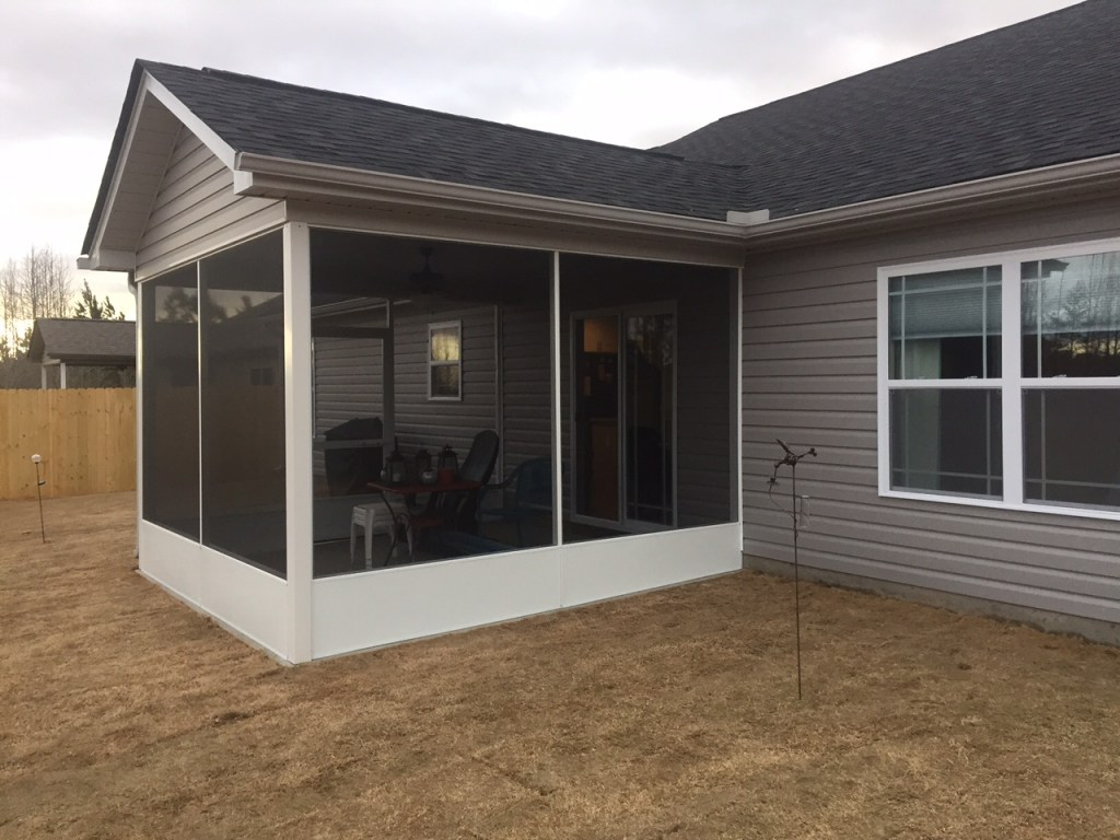 Screened Porch in Inman SC with Kick-plate