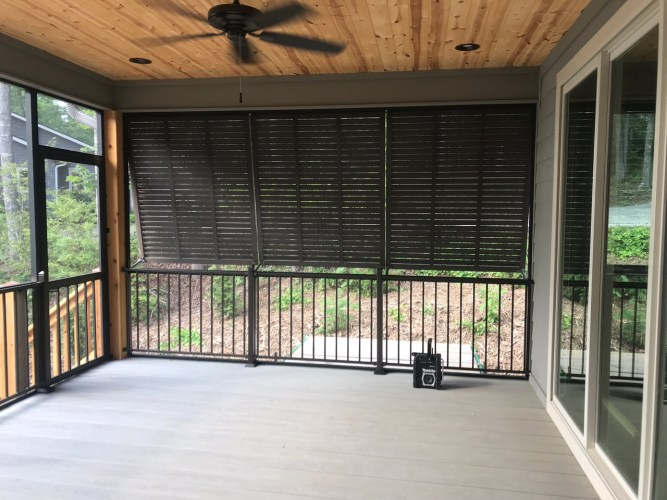 Get Privacy on Your Screen Porch with Bahama Shutters
