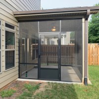 Duncan SC Bronze Porch Screened 5-hinge Screen Door