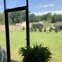 Simpsonville SC Screened Porch PCA Still Waters Piano hinge Screen Door No Kickpate