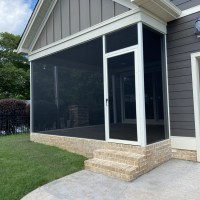 Still Water Custom Screen Door porch screened by Palmetto Outdoor Spaces Picture Windows