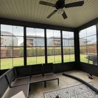 Bronze Porch Conversion Porch Enclosure Panels 96 inch Tall Cabana Door by Palmetto Outdoor Spaces